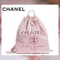 CHANEL A4 Chain Plain Purses Elegant Style Backpacks