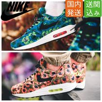 Nike AIR MAX 1 Flower Patterns Street Style Sneakers