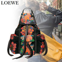 LOEWE Flower Patterns Unisex Nylon Blended Fabrics Street Style