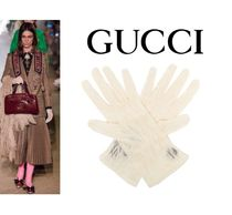 GUCCI Plain Leather Home Party Ideas Leather & Faux Leather Gloves