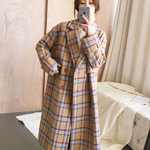 Glen Patterns Casual Style Long Chester Coats