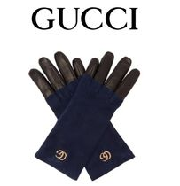 GUCCI Suede Blended Fabrics Plain Home Party Ideas Gloves Gloves