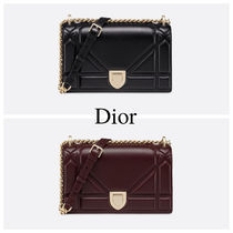97eb62ff4031 Christian Dior DIORAMA Chain Plain Leather Party Style Shoulder Bags