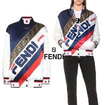 FENDI Short Casual Style Collaboration Varsity Jackets
