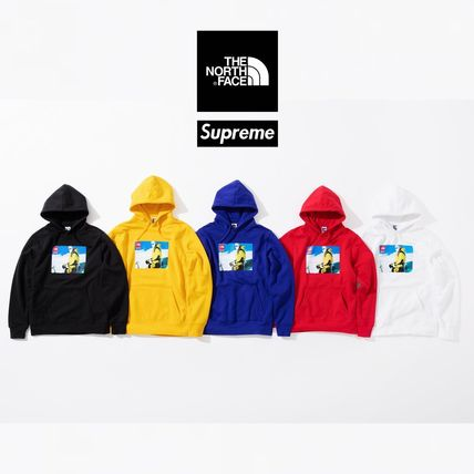 Supreme Hoodies Unisex Street Style Collaboration Hoodies