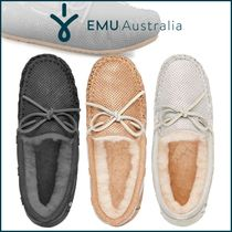 EMU Australia Moccasin Rubber Sole Casual Style Sheepskin Plain