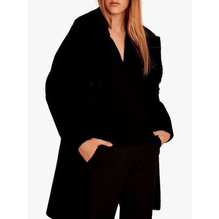 Casual Style Plain Leather Medium Coats