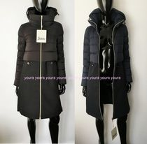 HERNO Blended Fabrics Plain Long Down Jackets