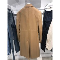 Maison Margiela Wool Plain Long Chester Coats