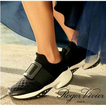 Roger Vivier Casual Style Street Style Bi-color Plain Low-Top Sneakers