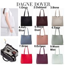 DAGNE DOVER Casual Style Plain Leather Office Style Totes