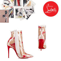 Christian Louboutin So Kate Casual Style Pin Heels PVC Clothing Ankle & Booties Boots