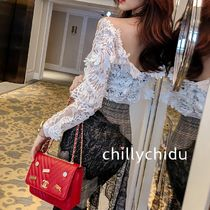 Long Sleeves Lace Shirts & Blouses