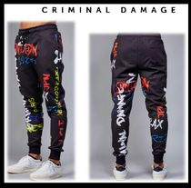 CRIMINAL DAMAGE Blended Fabrics Street Style Joggers & Sweatpants