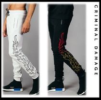 CRIMINAL DAMAGE Sweat Street Style Plain Oversized Joggers & Sweatpants