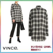 Vince Casual Style Long Sleeves Plain Cotton Shirts & Blouses