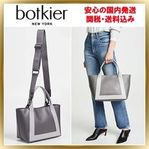Botkier A4 Bi-color Plain Leather Office Style Totes
