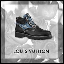 Louis Vuitton Monogram Street Style Plain Leather Sneakers