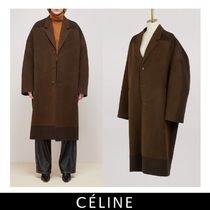 CELINE Wool Long Oversized Coats
