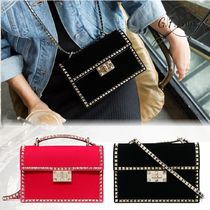 VALENTINO Casual Style Studded Shoulder Bags
