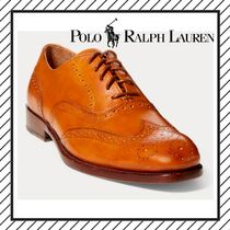 POLO RALPH LAUREN Wing Tip Plain Leather Oxfords