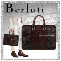 Berluti Crocodile A4 Other Animal Patterns Business & Briefcases
