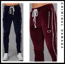CRIMINAL DAMAGE Street Style Plain Oversized Joggers & Sweatpants