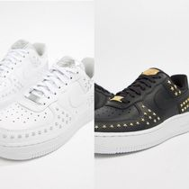 Nike AIR FORCE 1 Unisex Studded Street Style Sneakers