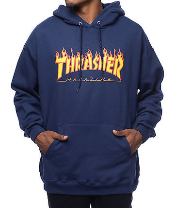 THRASHER Hoodies Pullovers Sweat Street Style Long Sleeves Plain Hoodies 4