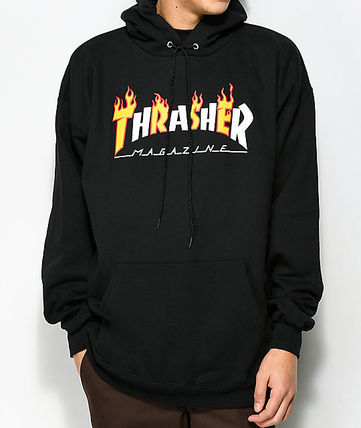 THRASHER Hoodies Pullovers Sweat Street Style Long Sleeves Plain Hoodies 6