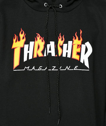 THRASHER Hoodies Pullovers Sweat Street Style Long Sleeves Plain Hoodies 8