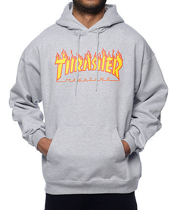 THRASHER Hoodies Pullovers Sweat Street Style Long Sleeves Plain Hoodies 11