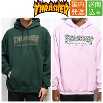 THRASHER Pullovers Flower Patterns Sweat Street Style Long Sleeves