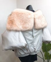 Faux Fur Street Style Plain Special Edition Bomber Jackets