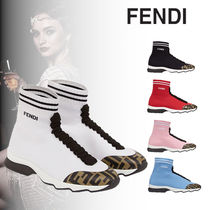 FENDI Rubber Sole Casual Style Low-Top Sneakers