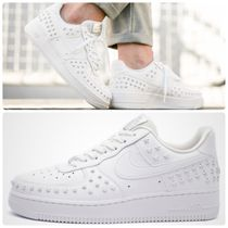 Nike AIR FORCE 1 Star Plain Toe Rubber Sole Casual Style Faux Fur Studded