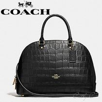 Coach 2WAY Other Animal Patterns Leather Elegant Style Handbags