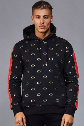 CRIMINAL DAMAGE Hoodies Pullovers Monogram Street Style Long Sleeves Cotton Hoodies 2