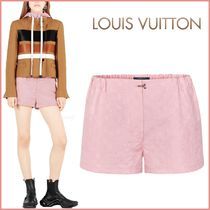 Louis Vuitton MONOGRAM Printed Pants Short Monogram Silk Blended Fabrics Bi-color