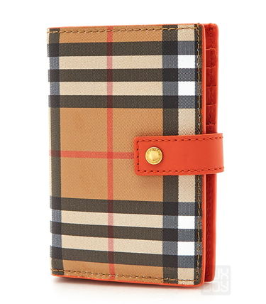 Gingham Leather Folding Wallets
