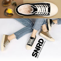 paperplanes Round Toe Rubber Sole Lace-up Casual Style Plain