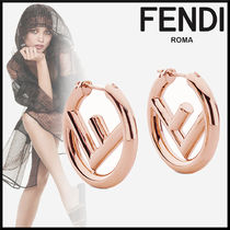 FENDI Initial Elegant Style Earrings