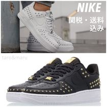 Nike AIR FORCE 1 Star Lace-up Casual Style Unisex Street Style Leather