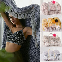 Urban Outfitters Plain Fringes Throws