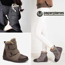 paperplanes Zigzag Round Toe Rubber Sole Casual Style