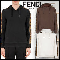 FENDI Monogram Sweat Long Sleeves Plain Logos on the Sleeves