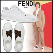 FENDI Monogram Street Style Leather Loafers & Slip-ons
