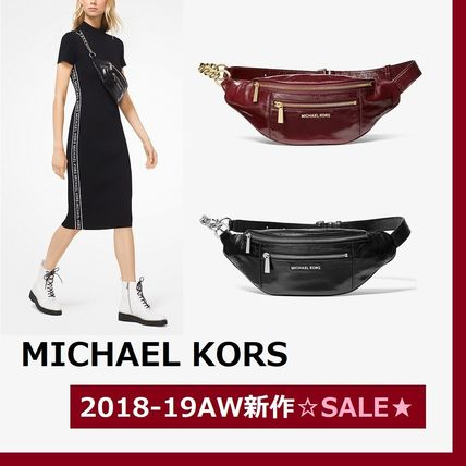 3109bfb8934936 ... Michael Kors Backpacks Casual Style Plain Leather Bold Backpacks ...