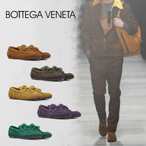 BOTTEGA VENETA Stripes Loafers Suede U Tips Loafers & Slip-ons