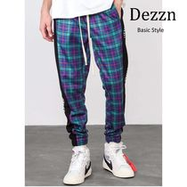 Dezzn Printed Pants Other Check Patterns Street Style